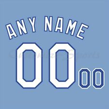 Kansas City Royals Luz Azul Béisbol Jersey número Personalizado Kit sin costura