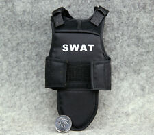 "1:6 Scale 4D Assembling Black Tactical Bullet Proof Vests Mode F 12"" Figure"