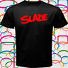 SLADE English Rock Band Legend Men's Black T-Shirt Size S to 3XL
