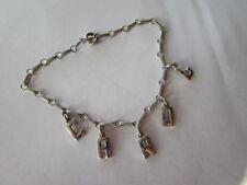 WWII era Sweetheart Souvenir Bracelet / CAROL ~ STERLING
