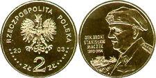 """Poland 2003 - 2 zlotych """"General Stanislaw Maczek"""" UNC"""