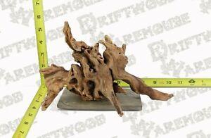 Aquarium Driftwood Root Sinking Decoration Hardscape Slate Mounted Medium Large