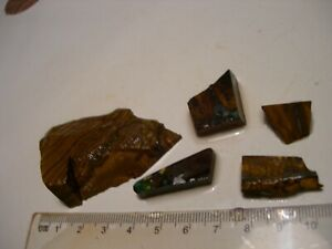 (Lot 2292) 5 pieces Boulder Opal, for some fun cutting with interesting colours.