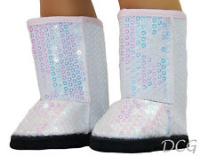 "AFW SPARKLING SEQUIN BOOTS for 18"" Dolls & American Girls NEW Winter Shoes"