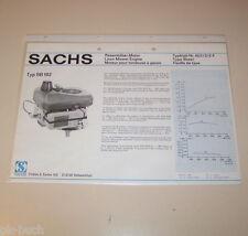 Typenblatt / Technische Daten Sachs Rasenmäher Motor SB 102 - Stand 1976!