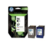 1 X C6657AE HP 57 C6657A +  Black HP 56 C6656A ORIGINAL INK CARTRIDGE 2017 STOCK