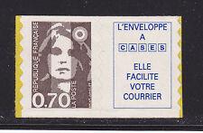 FRANCE AUTOADHESIF N°    6b ( 2873b )** MNH, vignette caractères maigres, TB