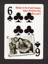 The Marx Brothers Groucho Harpo Chico Neat Playing Card #7Y7