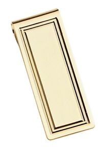 Colibr Men's hinged gold plated money clip rare hard to find  made in usa
