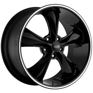 "Foose F104 Legend 17x8 5x4.75"" +1mm Gloss Black Wheel Rim 17"" Inch"