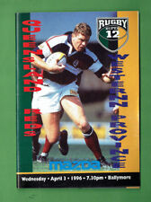 #Bb. Rugby Union Program 1996 - Qld Reds Vs Western Province