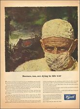 1942 Vintage ad for Wyeth`Pharmaceuticals~WWII era Art Surgeon (121015)