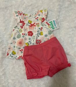 Baby girls 3-6 months shirt and short set Carters Child of Mine