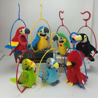 Repeats Your Words Birthday Gift for Kids Children Plush Talking Parrot Toy