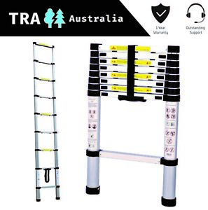 2.6m Portable Telescopic Roof Top Tent Ladder with Carry Bag RV Parts Motor Home