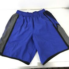 Vintage SPEEDO Mens Swim Trunk Surf Shorts Lined Blue Black Retro Size M(s4)