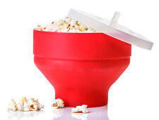 Microwave Silicone Popcorn Popper Maker Collapsible Bowl Kitchen Tool Home DIY