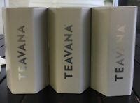 Teavana  Hexagonal Tea Tin Container 3pc Set