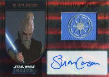 Star Wars Evolution 2016 Autograph Flag Patch Silas Carson as Ki-Adi-Mundi 5/5
