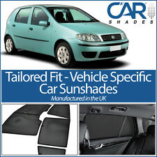 Fiat Punto 5dr 2003-10 UV CAR SHADES WINDOW SUN BLINDS PRIVACY GLASS TINT BLACK