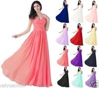 New V-nick Wedding Bridesmaid Evening Formal Chiffon Party Prom Dress Size 6 -18