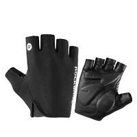 ROCKBROS Cycling Bike Half Finger Gloves Shockproof Breathable Gloves Black