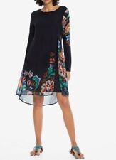 DESIGUAL WOMEN'S DRESS UTHA  18WWVW77- BLACK MULTI- SIZE:40 - NWT