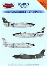 Icarus Decals 1/72 NORTH AMERICAN F-86D SABRE DOG Fighters