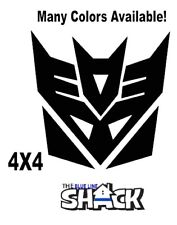 "Transformers Decepticons Vinyl Decal Car Action 4""X4""  window sticker"
