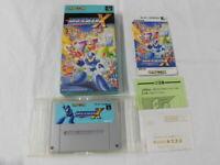 Y2312 Nintendo Super Famicom Rockman X Megaman Japan SFC SNES w/box