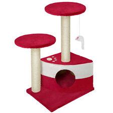 Arbre à chat griffoir grattoir rouge bordeaux