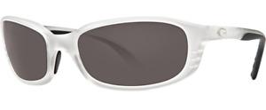 Costa Del Mar Brine Polarized Sunglasses - Matte Crystal/Gray 580P - BR 39 OGP