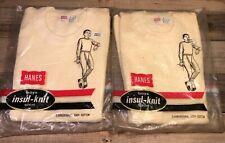 Vtg Hanes Thermal shirt Lot 70s 80s Deadstock USA Selvedge M 10-12  Short Sleeve