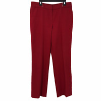 Larry Levine Womens Red High Rise Designer Casual Dress Pants Size 16