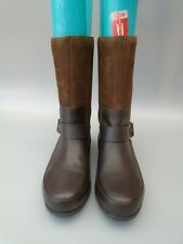 FITFLOP  FF  BROWN LEATHER DUE BOOTS SIZE 8 NEW