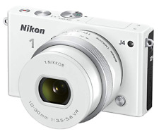Nikon 1 J4 18.4MP Digital SLR Camera (White) with 10-30mm Lens