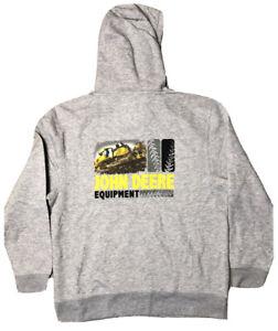 New Official John Deere Licensed Hoodie Tractor Sweatshirt Hunting Men's Size LG