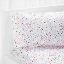 Confetti Printed Design Polka Dot Sheet Sets Fitted Flat Bedding Bed Girls Kids