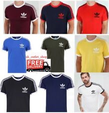 Adidas Originals Mens Tshirt 3 Stripes California Short Sleeve Crew Neck M L XL