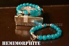 Elegant Hemimorphite Rosary Bracelet