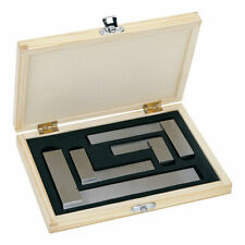 Engineers Square Set 4pc - 2, 3, 4 & 6 Inch Squares In Wooden Case - Try Squares