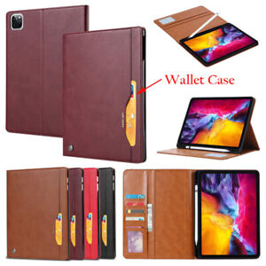 Wallet Leather Folio Case Cover Pen Slot For iPad Air 4 Pro 11 3rd 12.9 5th Gen