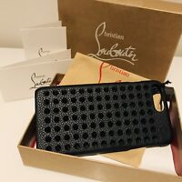 CHRISTIAN LOUBOUTIN IPHONE CASE 7+ / 8+ BLACK STUDDED LEATHER NEW BOXED