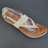 Merrell Milos Brown Beige Leather Sandals Women Size 9 Neutral