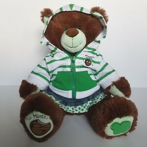 Build A Bear Girl Scout Cookie Thin Mints Brown Bear Plush Hoodie Skirt Outfit