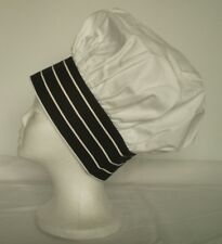 Togue Chef Hats, Adjustable Closure, White with Chalk Stripe Band - 150