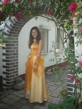 Abendkleid Ballkleid Brautkleid orange Gr. 36/38 Kleid mit Unterrock