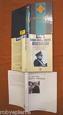 Lotto 3 libri Mussolini denis mack smith benito la seconda guerra mondiale saggi