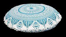 Indian Handmade Ombre Mandala Ottoman Floor Cushion Cover Bohemian Pillow Cover