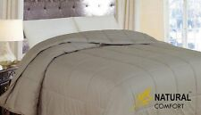 Natural Comfort New in Color Down Alternative Comforter, Queen, Taupe , New, Fre